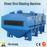 Plate Surface Steel Sheet Shot Blasting Machine With Roller Conveyor