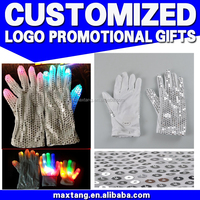 Wholesale party supplies color changing led glowing gloves in the dark shining glove