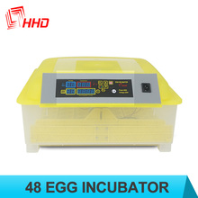 Low Price Transparent Base Automatic Poultry chicken egg incubator with CE approved YZ8-48
