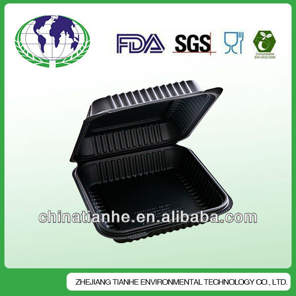 Biodegradable Food clamshell box disposable lunch boxes