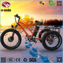 48V 500w fat tire hydraulic suspension cargo electric tricycle for sale