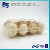 Clear plastic egg tray PVC/PET blister egg packaging tray/box with lid