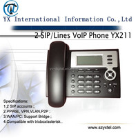 low-cost-sip-phone 2 line voip phone,2 sip accounts ip phone POE desktop telephone,gsm fixed voip telephones