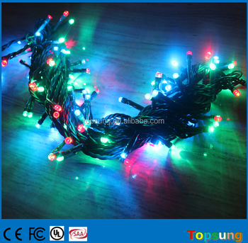 10m connectable outdoor led string lights for Christmas decoration multi color