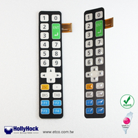 HH1108 New Design OEM PC Switch Control Keypad Membrane Switch for Telecommunication