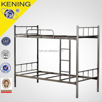 Simple cheap design metal bed dormitory economic adult bunk bed
