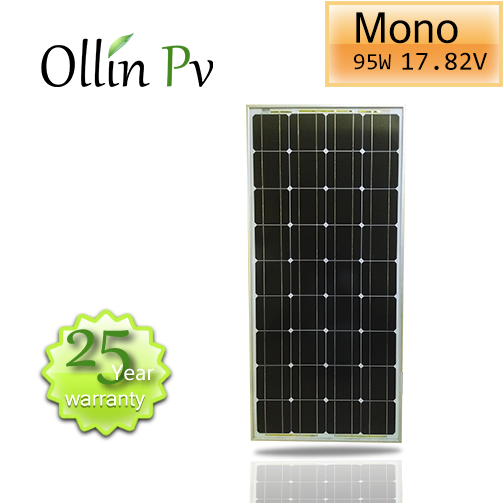 Ollin Solar panel 95w mono Photovoltaic PV Solar Panel Module for Battery Charging RV Boat Off Grid