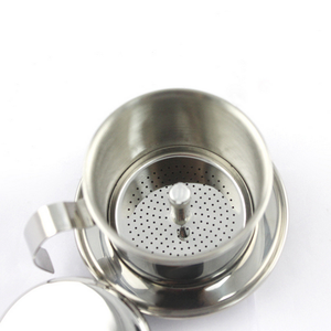 Vietnamese Coffee Filter Press. Screw Down Insert. Dripper Mechanism.