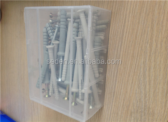 Large flat plastic container 25 kg bolts and nuts storage boxes