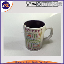 China Inner colorful cheap in bulk stoneware ceramic coffee mug with handle