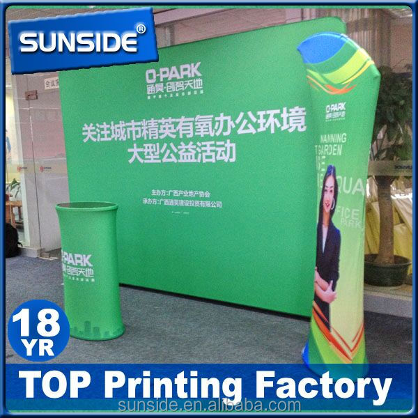 Commercial Spring polyester pop up banner,exhibition banner stand.Quick fabric banner