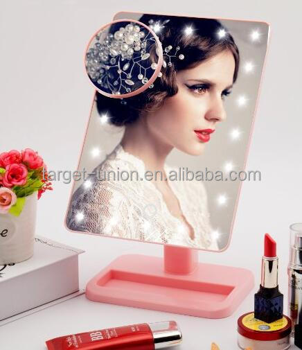 hollywood vanity Led lighted makeup magnifying mirror