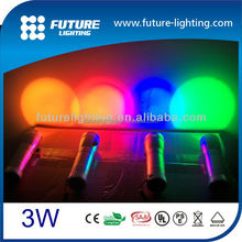 gift color changing flash and strobe 3W RGB led torch light manufacturers