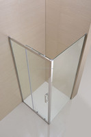 bathroom square shower glass cabin with stainless steel frame