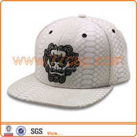 wholesale custom embroidery snakeskin snapback cap