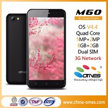 "2.5D Glass Screen OMES M60 5"" 5 inch IPS High Class Quad Core 1GB Ram 8GB Rom Android 3G dual sim smart phone"
