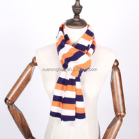 colorful striped knitted cashmere scarf for kids