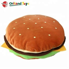 stuffed plush hamburger food shaped plush toys cushion pillow