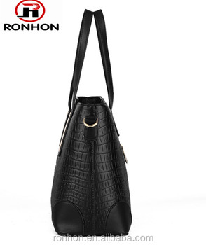 Noble and Flaunty Crocodile PU Leather Bag for Lady