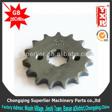 Professional produce motorcycle sprocket gear ,NXR125 BROS ES 17T sprocket,420 and 428 gear motor sprocket