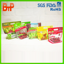 printed zip lock plastic cherry bags fruit bag