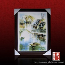 Countryside scene hand painted ceramic art wall picture made in China