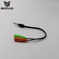3.5mm Headphone jack Male Stereo to Female Splitter Audio Cable Adapter