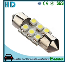 Auto bulbs 31mm 36mm 39mm 41mm 3528 SMD 6 LED 1210 12v car Interior roof festoon dome light