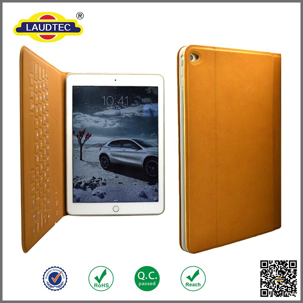 New Design Leather case for iPad Air 2 with wireless keyboard from Laudtec