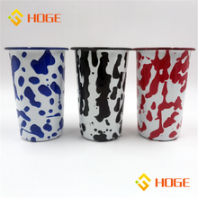 New Design Graffiti Enamel Coffee Beer Mug Healthy Drink Mug Enamelware Wholesale In Stock
