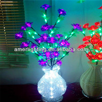 2014 New table decorations led lights with vases Hight 80cm 100leds 6w 110v-220v 2pcs/bag