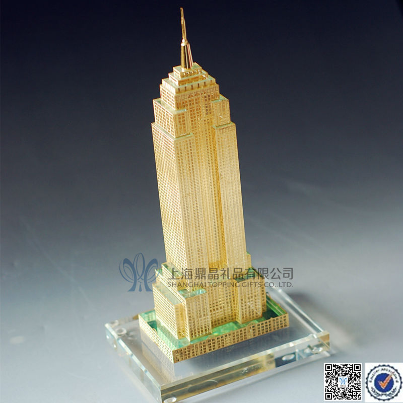 Lead Crystal Empire State Building