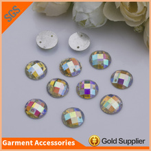 Hot Sale Round Flat Back Resin Stones Non Hotfix Rhinestone