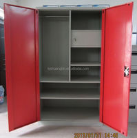 Vertical high quality metal double-door locker/2 door upright steel cabinet/combination locks for lockers