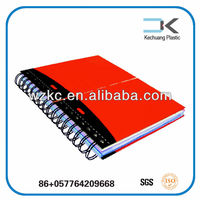 School office PP plastic cover spiral notebook a4