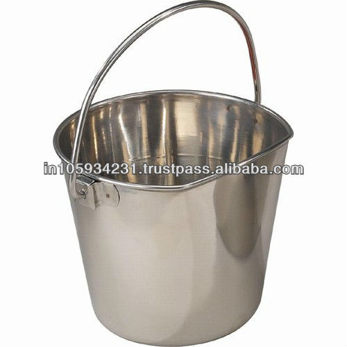 Flat Sided Animal feeding buckets