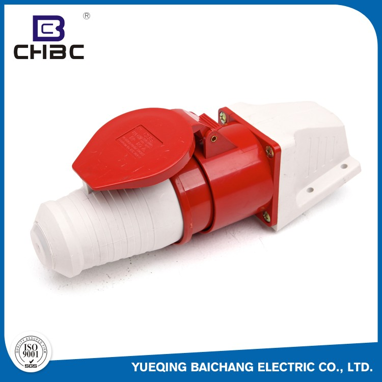 CHBC 32A 5 Pin Red Colour Industrial Electrical Plug Socket Made In China