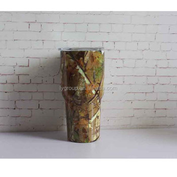 Stainless Steel Camo Tumblers,30oz Stainless Steel Travel Tumbler Cup, Double Wall Vacuum Insulated Drinking Thermal Mug