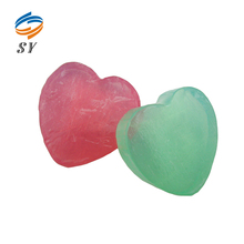 Wholesale colorful heart shape skin whitening bath soap for slimming