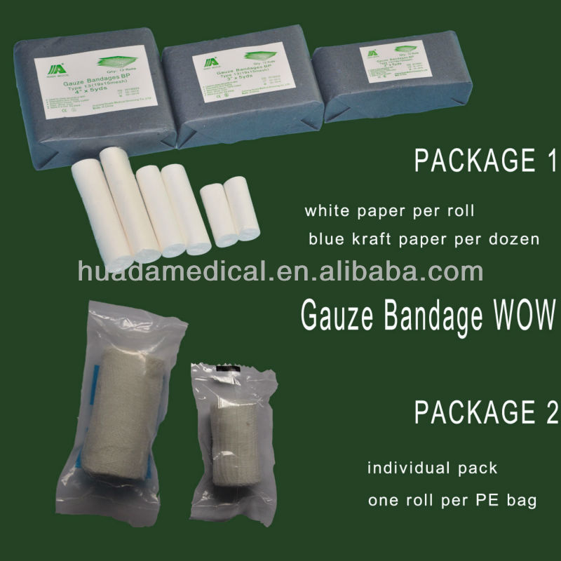 Chinese factory surgical organic cotton gauze bandage