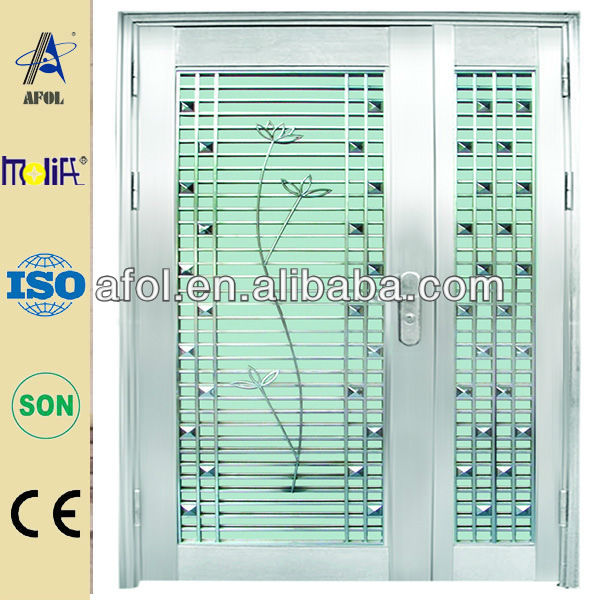 exterior glass louver stainless steel door