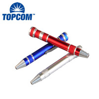 Mini Screwdriver Tool 8 in 1 Bits Pen Aluminum Alloy Pocket Screw Driver