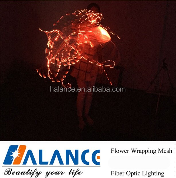 360 Twirling Fiber Optic whip for dance