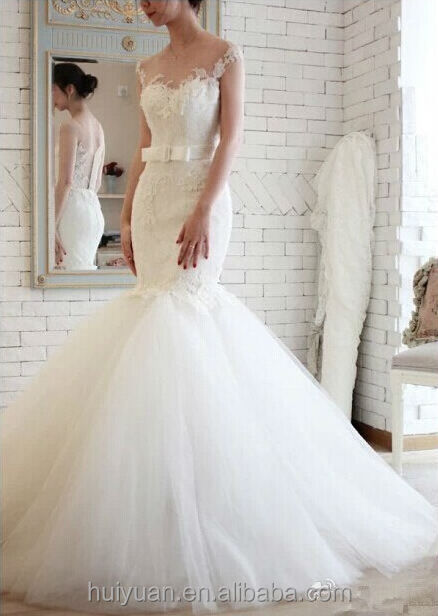 white sweetheart neck strap lace trumpet/mermaid wedding dress 2013