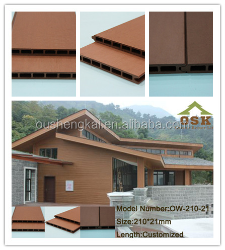 wood plastic composite fence panels