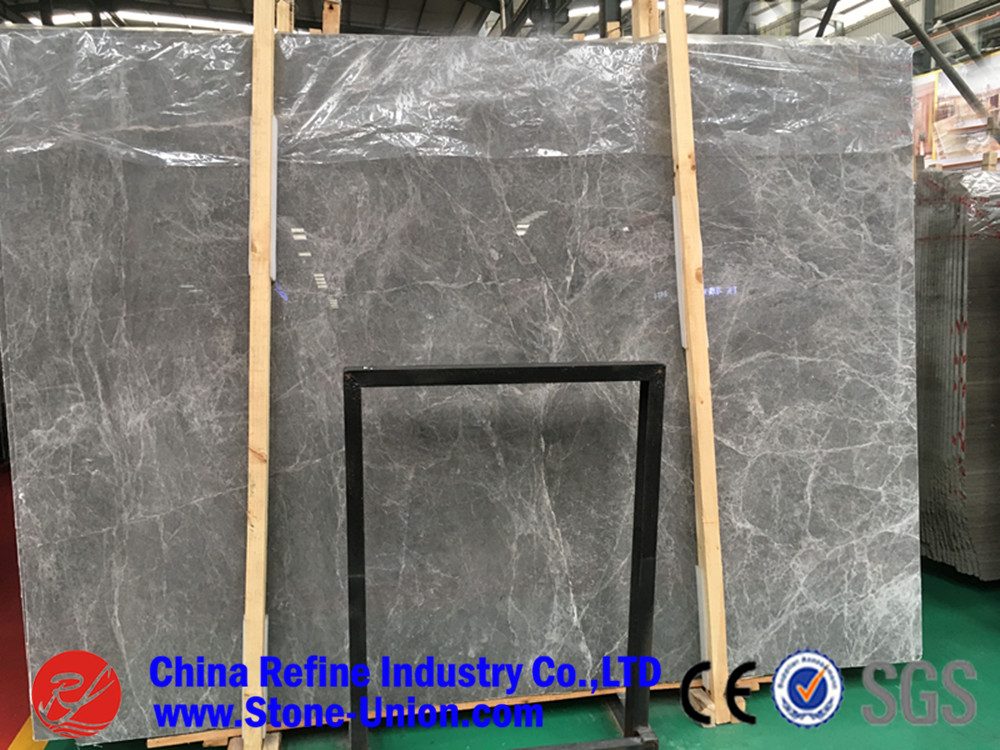 China Herms Grey Marble Thick Slab for Interior Floor Wall