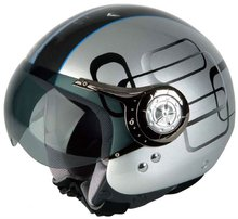 DOT open face helmets JX-B256 custom graphic fit motorbike scooter