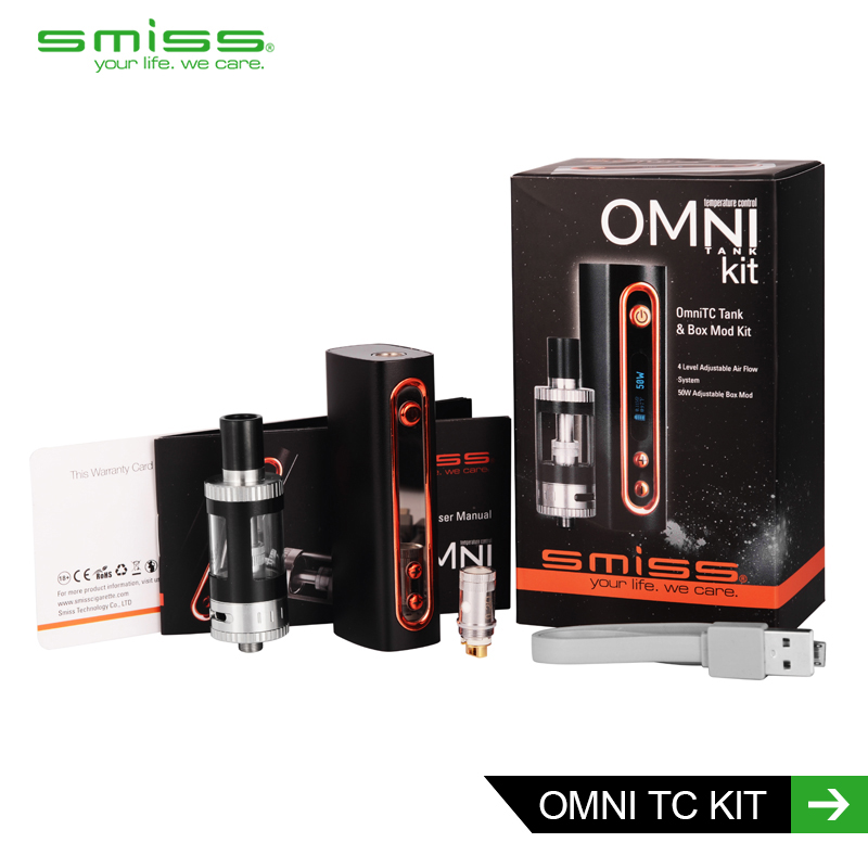 2015 Latest OMNI KIT vape band silicone Temperature controll 50W huge vapor box mods OMNI KIT