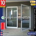 Aluminium Frame Glass Hinges Door/Swing Door