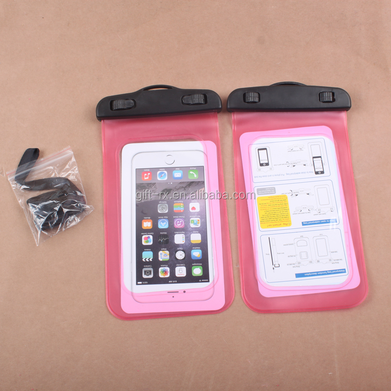 Universal water proof PVC smartphone mobile phone cases waterproof case